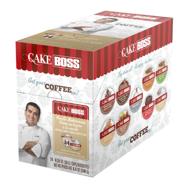 CAKE BOSS VANILLA BUTTERCREAM i kup Keurig compatible single serve coffee cups