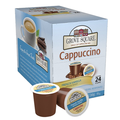Grove Square Cappuccino i kup Keurig compatible single serve coffee cups
