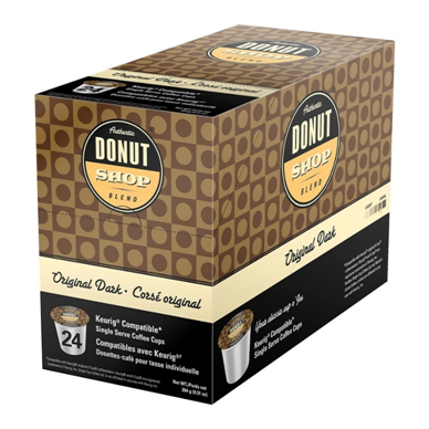 AUTHENTIC DONUT SHOP ORIGINAL DARK i kup Keurig compatible single serve coffee cups