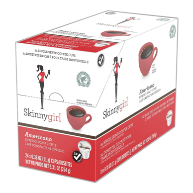 SKINNY GIRL AMERICANO i kup Keurig compatible single serve coffee cups