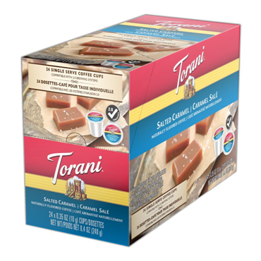 TORANI SALTED CARAMEL i kup Keurig compatible single serve coffee cups