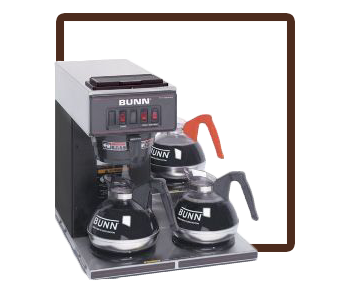 Bunn VP-17 3 Burner Pourover
